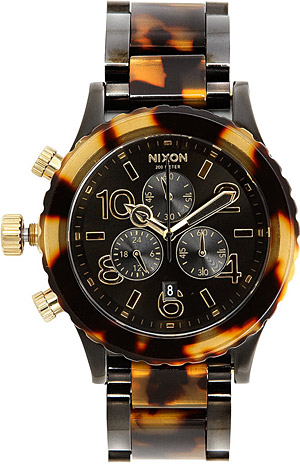 Nixon 42 20 Chronograph Whatch  Nixon 42 20 Watch in Black/Tortoise