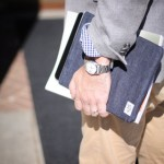 ipad holding with book large 150x150 MS&Co. Raw Selvedge Denim Sleeves