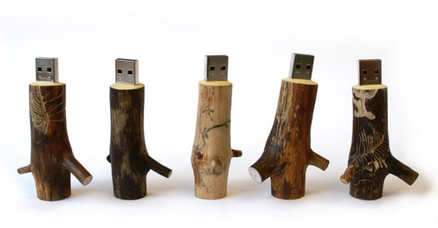 OOMS Wooden USB Wooden USB Stick by OOOMS