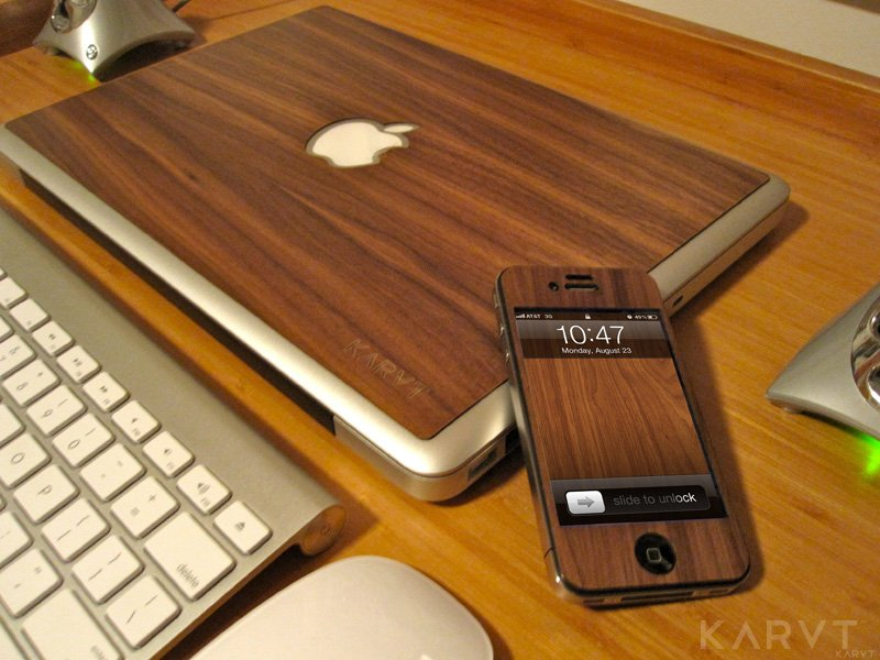 wood walnut karvt skin Karvt 100% Real Wood Skins for Apple fans
