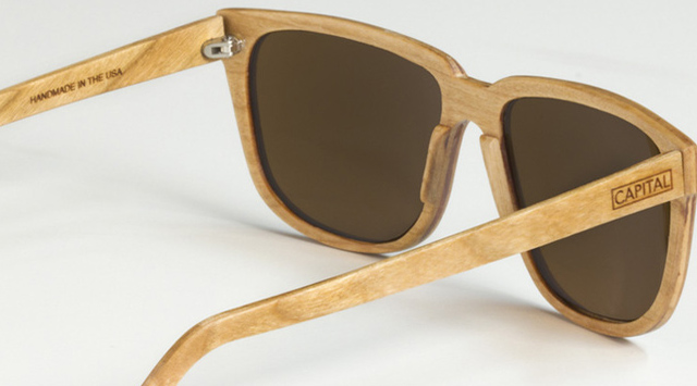 capitalwoodsunglasses2 Capital Handcrafted Wood Sunglasses